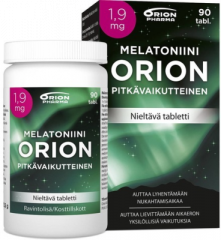 MELATONIINI ORION 1,9 MG PITKÄVAIK. 90 TABL