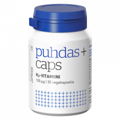 Puhdas+ Caps K2-vitamiini 100 mikrog X30 kaps
