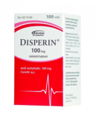 DISPERIN 100 mg tabl 100 kpl