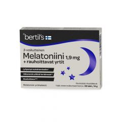 Bertils Melatoniini 1,9 mg + rauh. yrtit 30 tabl