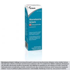 MOMETASONE ACTAVIS 50 mikrog/annos nenäsumute, susp 60 annosta