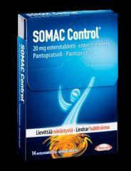 SOMAC CONTROL 20 mg enterotabl (7+7 taskupakkaus)14 fol